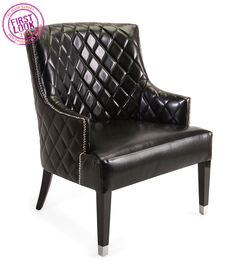 Fashion forward at #LVMkt - In the new Nikki Chu Home for @imaxcorp, black and white are a backdrop for gold, silver, copper & bronze shades. Spot matte, shiny & ombré finishes, as well as quilted effects like the one shown here on Chennal Quilted club chair, too.