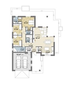 Miriam V - Dobre Domy Flak & Abramowicz House Layout Plans, Dream House Plans, House Layouts, Tuscan House, Dream House Exterior, Planer, Save Yourself, Floor Plans, House Design