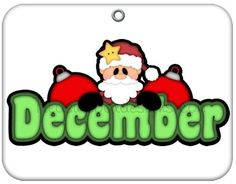 Month of December Christmas Clip Art | Months of the year clip ...