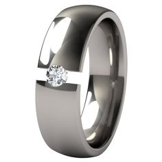 Lunar Eclipse Tension Set Titanium Wedding Ring