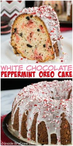 This White Chocolate Peppermint Oreo Cake is loaded with cookies and candy cane pieces. It's an easy, but impressive holiday dessert!
