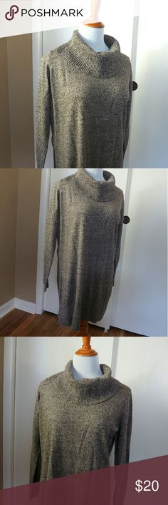 [ c o w l n e c k . s w e a t e r ] Super soft long sweater in perfect condition ! Great paired with leggings and boots! Fits like a medium or large AB Studio Sweaters Cowl & Turtlenecks