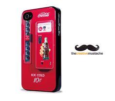 Custom iPhone 4 Case iPhone 5 Case - SODA VENDING MACHINE - iPhone 4 cover iPhone 5 cover. $16.99, via Etsy. Iphone 4, Cover Iphone, Iphone Cases, Soda Machines, Coke, Coca Cola, Handmade Gifts, Etsy, Vintage
