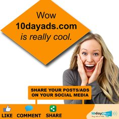 Wow 10dayads.com is really cool. #FreeBusinessAdvertising #PostFreeClassifiedAdsInUSA