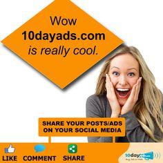 Wow 10dayads.com is really cool. #FreeBusinessAdvertising #PostFreeClassifiedAdsInUSA