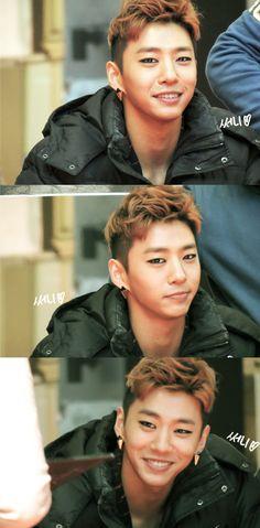 Bang Yong Guk. That smile is breath taking