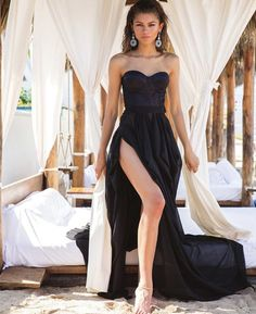 Black Prom Dresses, Black Evening Dresses, A Line Prom Dresses, Cheap Prom Dresses, Dress Black, Formal Dresses, Wedding Dresses, Wedding Flowers, Mode Zendaya