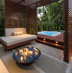 Ideas to Inspire Your Hot Tub & Patio Landscape Design Hot Tub Gazebo, Hot Tub Backyard, Backyard Patio, Hot Tub Garden, Pergola Designs, Deck Design, Garden Design, Pool Designs, Landscape Design