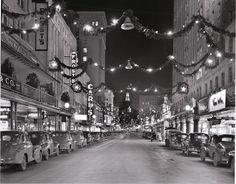 Houston Street, San Antonio, Texas.  Christmas, 1940.