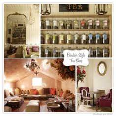 I'm really digging the comfy couches and jarred loose leaf tea selection Tea Cafe, Cafe Bistro, Opening A Coffee Shop, Tea Display, Tea Places, Coffee Room, Dining Room Table Chairs, Rose Tea, Loose Leaf Tea