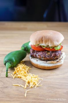 Jalapeno Cheddar Burger - Slender Kitchen