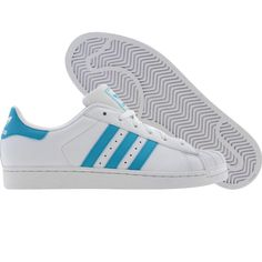 Adidas Womens Superstar 2 W (runnninwhite / super cyan). $69.99