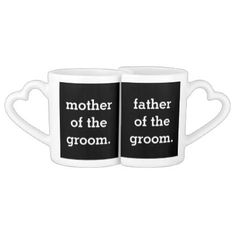 Mother and Father of the Groom Matching Mug Set - parenting parents kid children mom dad family
