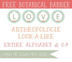 Anthropologie Look-a-Like: Botanical Banner