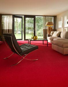 Desso Asteranne rood - vloerbedekking in de woonkamer | Living room