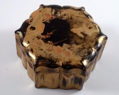 Antique Japanese Signed Gold Lacquered Box Birds Makie