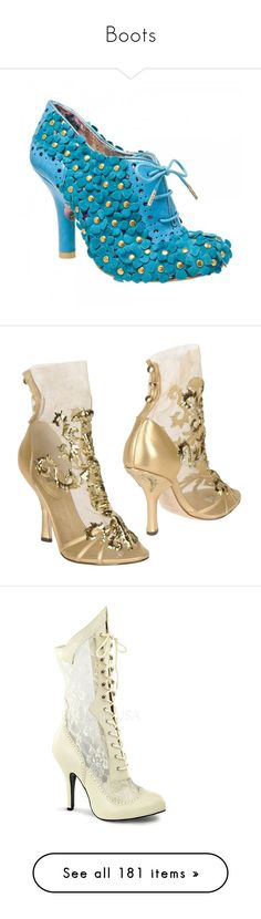 """""""Boots"""" by taught-to-fly19 on Polyvore featuring shoes, boots, ankle booties, pumps, blue booties, floral booties, floral boots, blue suede booties, bootie boots e heels"""