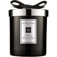 Oud & Bergamot home candle ($77) ❤ liked on Polyvore featuring home, home decor, candles & candleholders, fragrance candles, jo malone, scented candles and jo malone candle