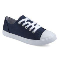 Girls' Brielle Cap-Toe Sneakers Cat & Jack - Navy (Blue) 13, Girl's