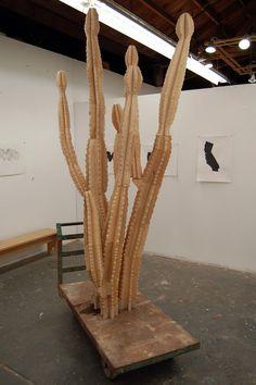 Plywood cactus.