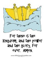 The Lord's Prayer Bible Verse Printables