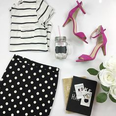 Mixing prints never goes out of style. I love mixing stripes and polkadots ✔️ click link in profile to shop. Sexymodest.com #modestclothing #onlineboutique #modestclothes
