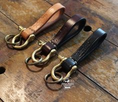 Loop Keyring from Timeless Leather Craftsmanship
