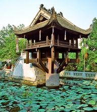 One Pillar Pagoda (Chua Mot Cot), Hanoi, Vietnam Vietnam Tours, North Vietnam, Hanoi Vietnam, Vietnam Travel, Asia Travel, Laos, Circuit Voyage, Beautiful Buildings, Beautiful Places
