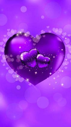 By Artist Unknown. Purple Wallpaper, Purple Backgrounds, Love Wallpaper, Galaxy Wallpaper, Wallpaper Backgrounds, Purple Art, Purple Love, All Things Purple, Heart Iphone Wallpaper