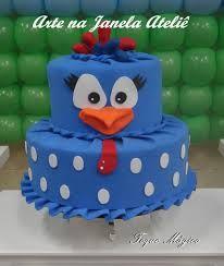 como fazer bolo falso em eva passo a passo - Pesquisa Google Bolo Fack, Chicken Cake, First Birthdays, Fondant, Biscuits, Cake Decorating, Birthday Cake, Desserts, Food