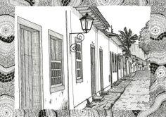 VENDIDO ARACAJU-SE RUAS DE PARATY - I (bico de pena s/ papel C à grain 224g/cm², tamanho: A4)
