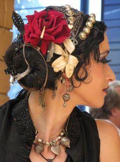 Samantha Emanuel tribal fusion bellydance Costumes amazing bead work beads beadwork tribal exotic belly dancer burner