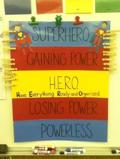 super heroes themed classroom | School Classroom Theme: Superheroes! / Superhero behavior chart, lose ...