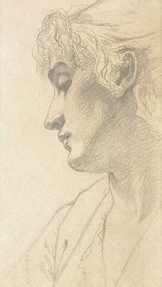 Study of a Woman' s Head 1875 by John Singer Sargent