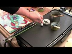 Video on mixing encaustic paint from http://www.WomackWorkshops.com offering inexpensive online encaustic classes. More free videos at womackworkshops.com
