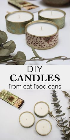 Salvage & Stitch: Reuse all of these cat food cans by ., # cat food cans Salvage & Stitch: Reuse all of these cat food boxes by changing the . Kerzenherstellung Kerzenherstellung Salvage & Stitch: Reuse all of th Candle Making At Home, Candle Making Business, Soy Candle Making, Craft Business, Diy Candles Video, Homemade Candles, Diy Craft Projects, Diy Crafts, Diy Recycling