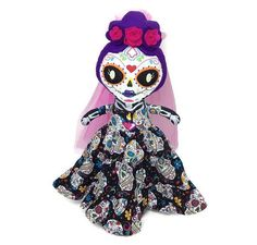 Pamela on Etsy Day Of The Dead, Minnie Mouse, Disney Characters, Fictional Characters, Etsy Seller, Creations, Dolls, Chic, Unique