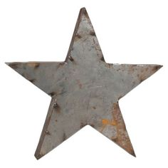 Perfect displayed as part of a rustic-inspired vignette or on its own, this metal decor showcases a star silhouette and weathered silver finish.