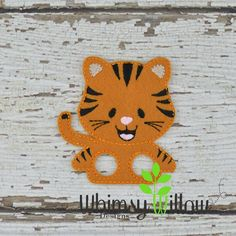 Tiger Finger Puppet ITH Embroidery Design