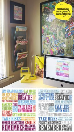resolutions - FREE downloadable, printable poster