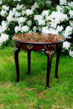 #20  Tea table, hand painted. $2,100.00, via Etsy.