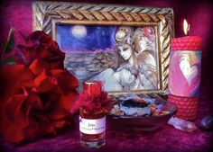Preparing sacred space for love magic