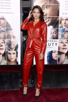 Camilla Cabello in a red Leather Catsuit Leather Jumpsuit, Leather Pants, Red Leather, Shanina Shaik, Vinyl Clothing, Pants For Women, Clothes For Women, Leather Dresses, Leather Fashion