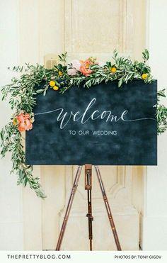 Welcomewedding guests sign
