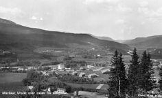 Nord-Trøndelag fylke Meråker utsikt fra stasjonen over dalen Utg Mittet 1950-tall