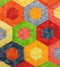 Tuto : Patchwork hexagone avec un roll