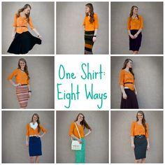 Maximizing your wardrobe - One shirt: eight ways! The Sister Shop