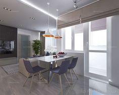 Интерьер Фото 03.08.2016/540534 Дизайн проект для квартиры 65 м2 с небольшим бюджетом от Студии интерьеров FoxLab_interior. Столовая Современная Foxlab Interior