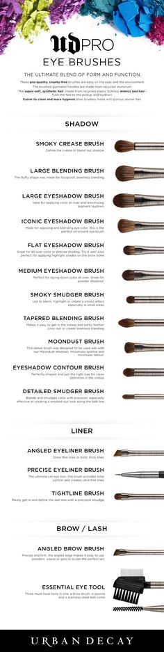 From Eye Shadow to Eyeliner, get all of the UD Pro Brushes and Tools you need to create the perfect eye looks.