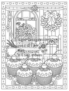 92 Best Cupcakes Cakes Coloring Pages For Adults Images On